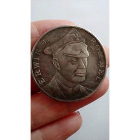 Moeda Medalha Guerra Alemanha Rommel Erwin Africa Cópia