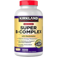 Super B-complex,complejo B,+ Vitamina C, 500 Tabletas