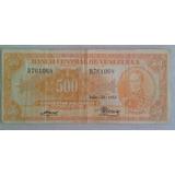 Billete 500 Bs 1953 El Canario. Envío Gratuito!!!