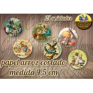 Páscoa Vintage Papel De Arroz Redondo 4,5 Cm 24 Unidades