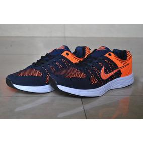Kp3 Zapatos Nike Air Zoom Azul Naranja Para Caballeros