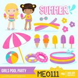 Kit Imprim Clipart Png Pool Party Pileta Verano Helado Fiest