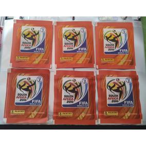 6 Envelopes Nacionais Copa Do Mundo 2010 Panini Brasil