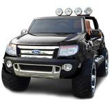Camioneta Ford Ranger A Bateria Para Dos Niños - Negro