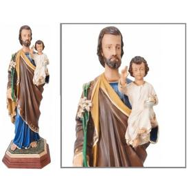 Escultura São José Com 80cm - Resina - Linda Imagem