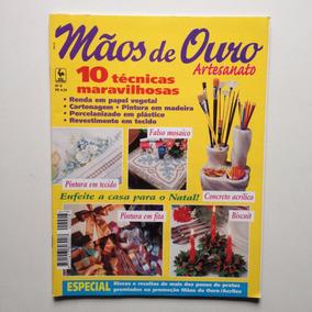 Revista Mãos De Ouro Artesanato Falso Mosaico Pintura N°08