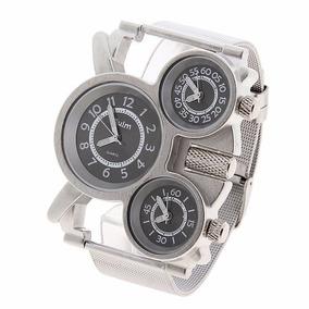 Reloj Oulm Ruso Militar Doble Reloj Agua Envio Gratis Dhl