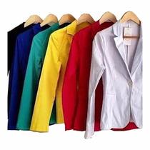 Blazer Feminino Colorido Casaco Blusa Terninho 344