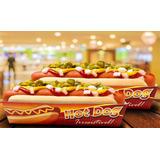 Caixa / Caixinha | Embalagem Para Hot Dog - 100 Unidades