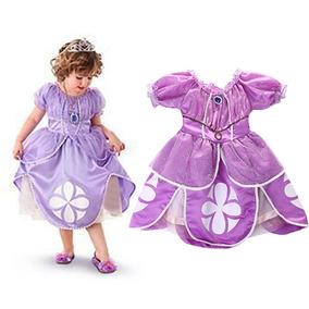 Fantasia Infantil Menina Criança Vestido Princesa Sofia