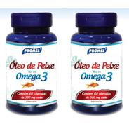 50 Óleo De Peixe Omega 3  60 Cáps 500 Mg Promel