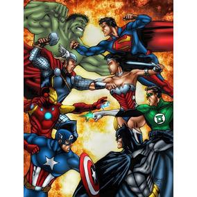 Hqs Liga Da Justiça Vs. Vingadores Da 1 A 4