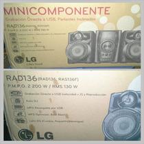 Minicomponente Lg Totalmente Nuevo