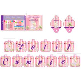 Kit Imprimibles Personalizados Primer Añito Nena