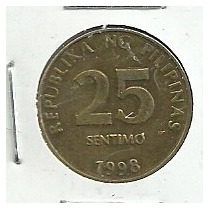 Filipinas 25 Centimos 1998