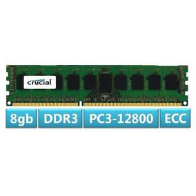 Memoria Ram 8gb Ddr3 Servidor 1600mhz Ecc Pc3-12800 Crucial