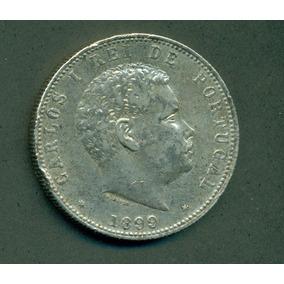 Moneda Portugal 1000 Reis 1899 Plata