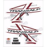 Kit Faixa Adesivo Honda Transalp Xl 700v 2011 Branca P08bv