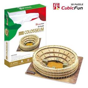 Rompecabezas 3d Cubicfun Coliseo Romano 84 Piezas