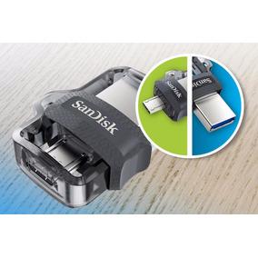 Pendrive Memoria Sandisk Dual Otg 64gb Usb 3.0 150 Mb/seg