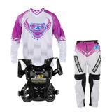 Kit Motocross Roupa Calça Camisa Criança Infantil Insane 5