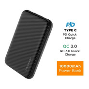 Power Bank Dual Usb Con Qc3.0 Y Pd 10.000mah. Carga Rápida, Power Delivery