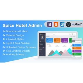 Spice Hotel - Bootstrap 4 Admin Dashboard Template With Mate