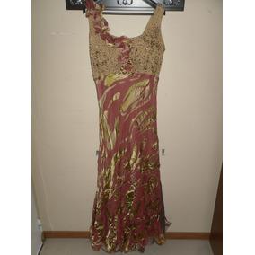 Excelente Vestido De Fiesta Alta Costura Ideal Madrina