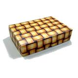 Caixa De Presente C/10 Unidades 22x15,5x5 R1 - Palha