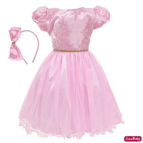 Vestido Infantil Princesa Daminha Formatura Aniversário Luxo