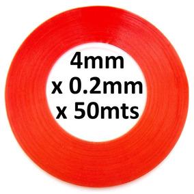 Cinta Adhesiva Doble Cara 4mm X 50mts Reparar Celular Tablet