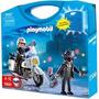 Playmobil 5891 Policia En Moto Patrulla Y Ladron 32piezas