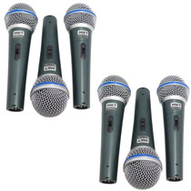 Kit 6 Microfones Mxt Profissionais + Cabos + Case Tipo Beta
