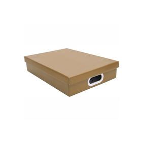 Caixa Retangular A4 Kraft Marrom 7x25cm - Boxgraphia