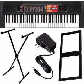 Teclado Musical Yamaha Psr F51 61 Teclas Com Fonte Suporte