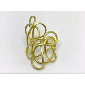 Glitter - Anel Vivara Knot 9,3gr E 14 Pontos De Diamantes!!!