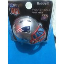 Mini Casco Pocket Helmet Riddell Patriots Nuevo En Blister