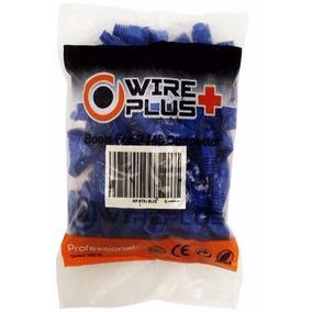 Botas Para Conector Rj45 Azules 100 Piezas Wireplus+