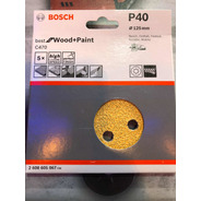 Lija Excéntrica Pintura O Madera Bosch 125mm Grano 40 5 Unid