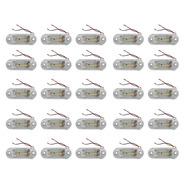 25 Lanterna Lateral Led Para Caminhões Barcos Motos Trator