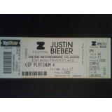 Entrada Justin Bieber Vip Platinum 2013 De Coleccion