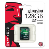 Kingston® Sd Xc 128 Gb Clase 10 Hd Video Canon Nikon Alpha