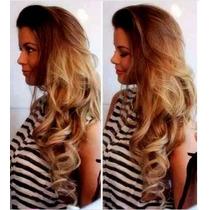 Aplique Mega Hair Tic Tac Loiro Dourado Cacheado / 60 Cm!!!!