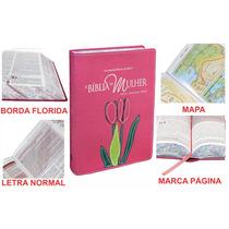 Bíblia De Estudo Da Mulher Grande Luxo Goiaba Flor Em Tecido
