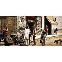 Lienzo Tela Fotografía Tienda De Pulque Tacubaya México 1900