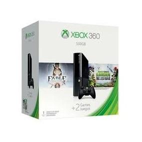 Xbox 360 Super Slim 500gb Bundle Fable + Plants Vs Zombies