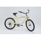 Bicicleta Retrô Aro 26 6 Marchas Kit Shimano Farol Led
