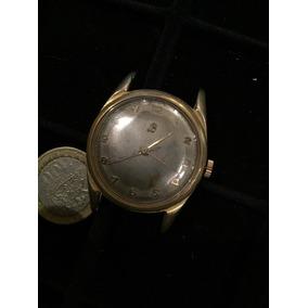 Antiguo Reloj Breitling Mecánico Cuerda Baño Oro Funcionando