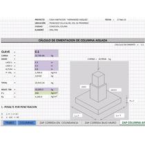 Cálculo Estructural: Cimentaciones, Trabes, Columnas N Casas