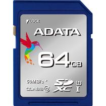 Tarjeta Sd Adata 64gb Premier Clase 10 Uhs-1 50mb/s